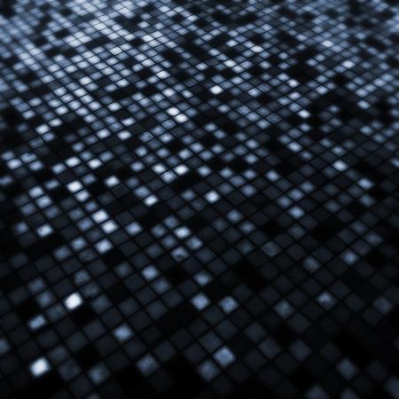 luminous: Grunge illuminated blue tiled