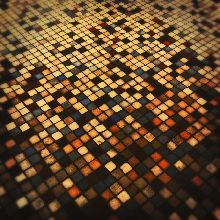 Grunge colorful tiled  photo