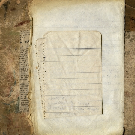 Various blank papers on grunge cardboard, vintage framework for your content