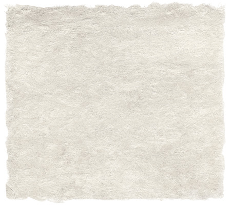 torn edge: Japanese handmade paper isolated on white