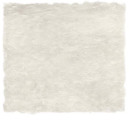 Japans handgeschept papier op wit wordt geïsoleerd Stockfoto