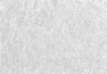White background from artistic handmade japanese paper with fibers texture