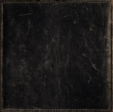 黒グランジ背景苦痛の革の質感から 写真素材