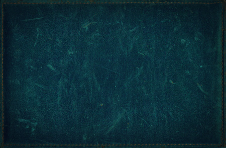 Dark blue grunge background from distress leather texture Standard-Bild