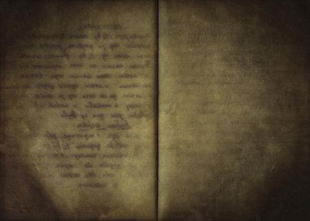 古いオープン手書きノート、使用される紙の質感からビンテージ背景 写真素材