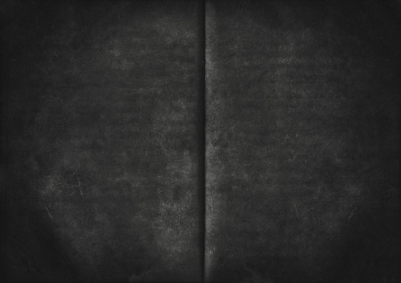 Black grunge background from old used paper texture Standard-Bild