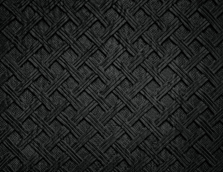 Black shaded background from handmade carved wood texture Archivio Fotografico