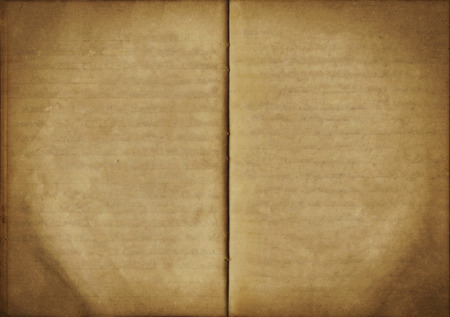 Vintage background from an old open empty notebook, used paper texture