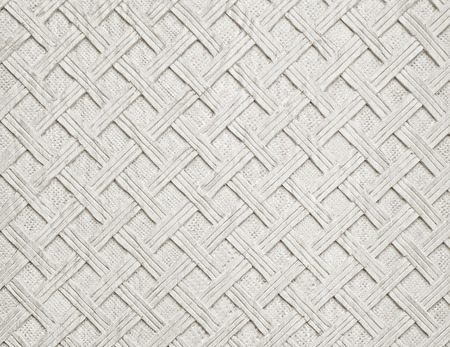 White decorative background from handmade carved wood texture Standard-Bild