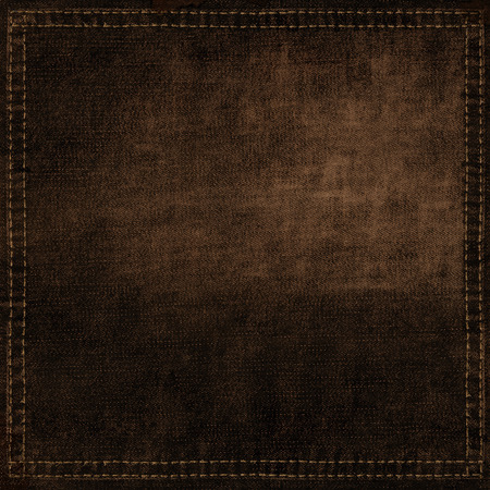 background, brown, texture, dark, fabric, canvas, wallpaper,  pattern,  jeans, frame, copy, blank, empty, design, label, retro, cotton, grunge, space, close, banner, vintage, western, square, down, rough, urban, thread, card, bleached, ad, stitch, message Archivio Fotografico