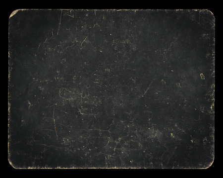 Vintage banner, blackboard or background, isolated on white with clipping path, rich grunge texture, antique paper mounted onto cardboard, suitable for Photoshop blending purposes, hi res.