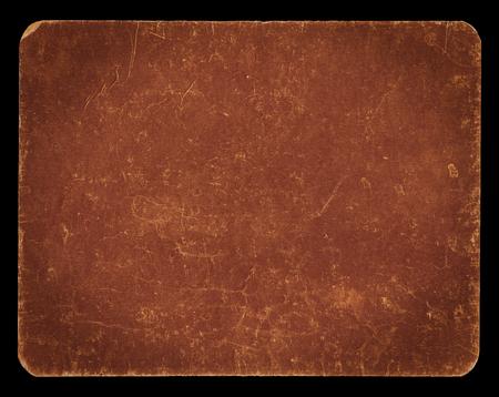 ビンテージ バナーまたはクリッピング パス、豊富なグランジ テクスチャ、アンティークの紙と黒に分離されたエレガントなブラウン色の背景は、