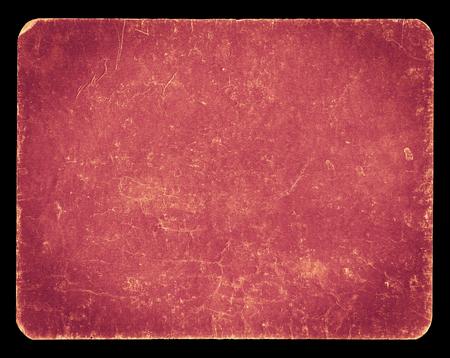Bandiera dell'annata o di sfondo di colore rosa pastello, isolato su fondo nero con il percorso, ricco di struttura del grunge di ritaglio, carta antica montati su cartone, adatto per Photoshop per miscelazioni, hi res. Archivio Fotografico - 47900085