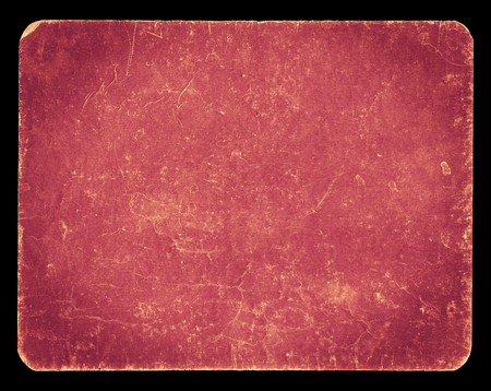 Vintage banner or background in pastel pink colour, isolated on black with clipping path, rich grunge texture, antique paper mounted onto cardboard, suitable for Photoshop blending purposes, hi res.