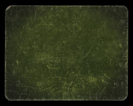 Bandiera dell'annata o di sfondo di colore verde scuro, isolato su fondo nero con il percorso, ricco di struttura del grunge di ritaglio, carta antica montati su cartone, adatto per Photoshop per miscelazioni, Hi Res. Archivio Fotografico - 47900090