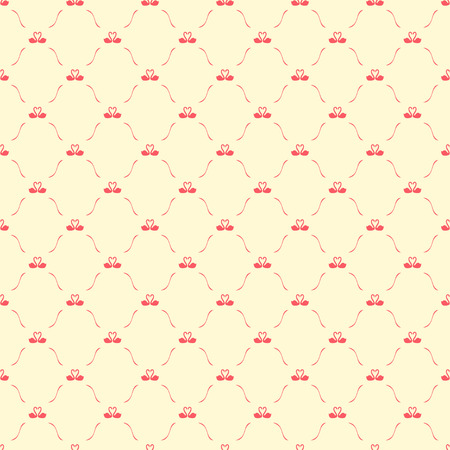 swans: Romantic seamless pattern with swans, retro style background
