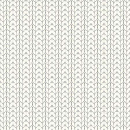 White knitted seamless pattern, knit stockinette stitch