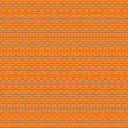 reverse: Orange knitted seamless pattern, reverse stockinette stitch