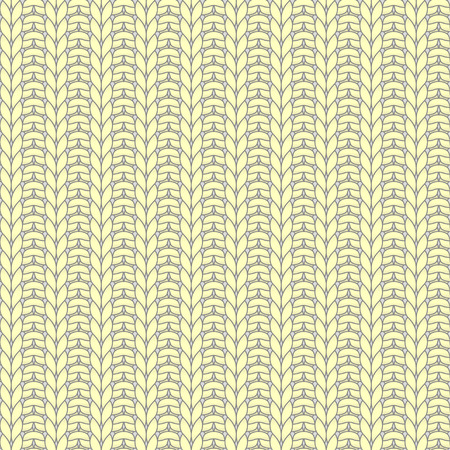 purl: Yellow knitted seamless pattern, rib, knit one, purl one