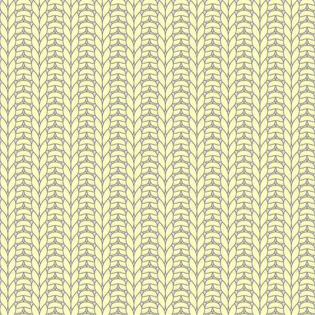 knit: Yellow knitted seamless pattern, rib, knit one, purl one