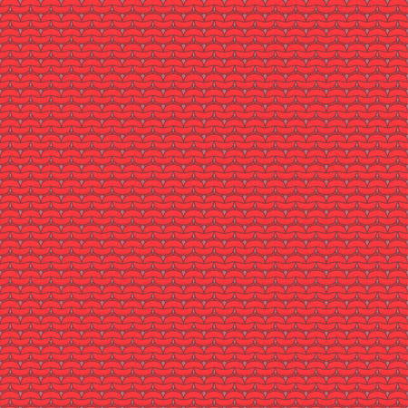 reverse: Red knitted seamless pattern, reverse stockinette stitch