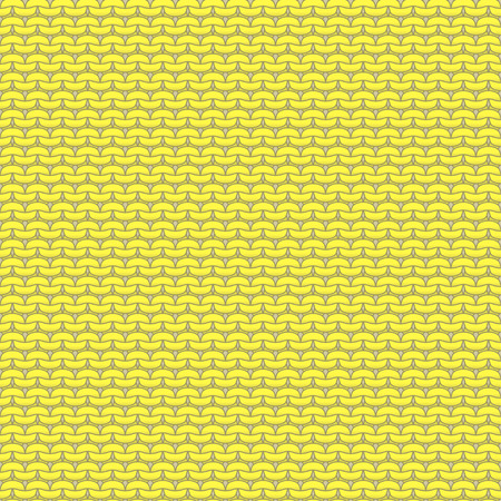 reverse: Yellow knitted seamless pattern, reverse stockinette stitch