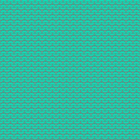 reverse: Mint blue knitted seamless pattern, reverse stockinette stitch Illustration