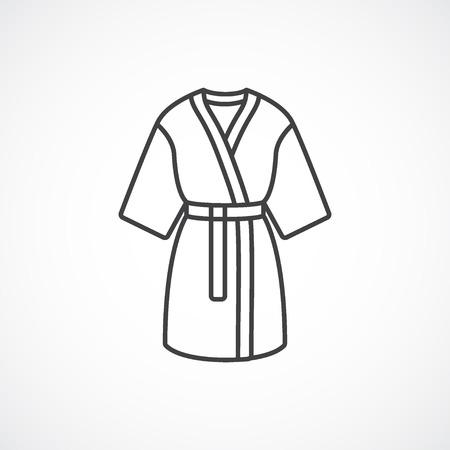 Kimono silk robe icon. line icon.