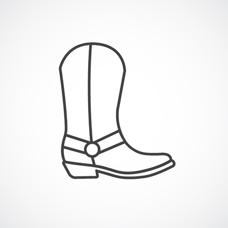 Cowboy boot icon. line icon.
