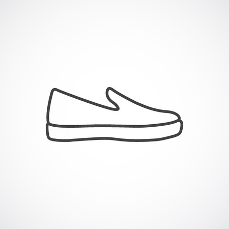 loafer: Espadrille line icon. Vector line icon isolated on white background