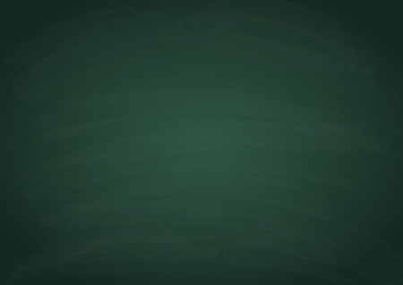 Green horizontal chalk board texture, vector background