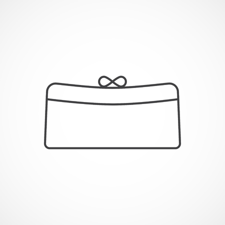 clutch: Womens clutch minimal isolated icon Illustration