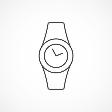 minimal: Watch minimal isolated line icon on white background