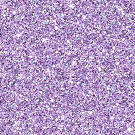 Vector lila glitter met kleuraccenten, realistische naadloze textuur Stock Illustratie