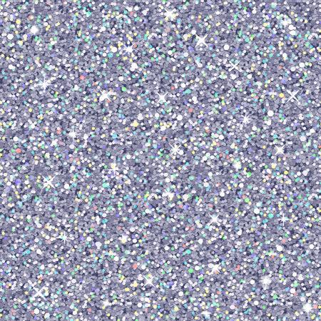 ベクトル銀グリッター カラーのハイライト、シームレスなパターン、リアルな質感