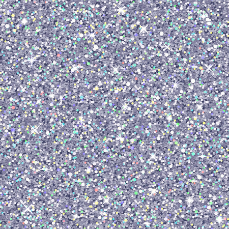 Vector silver glitter with color highlights, seamless pattern, realistic texture