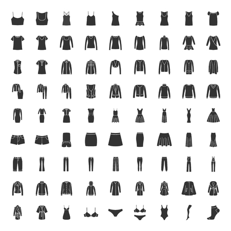 Black clothes icons