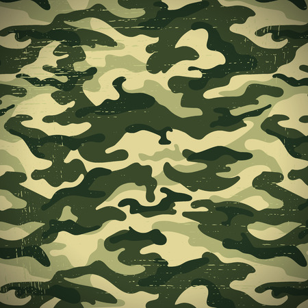 scuff: Camouflage seamless pattern in green-brown colors. illustration