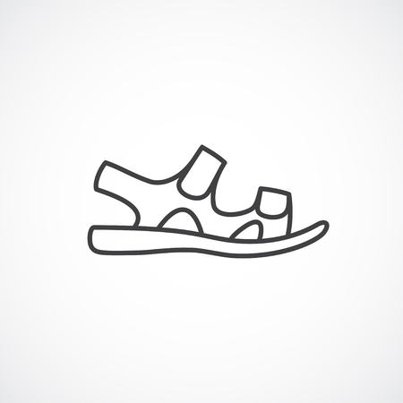 loafer: Mens sanal linear icon. line minimal icon
