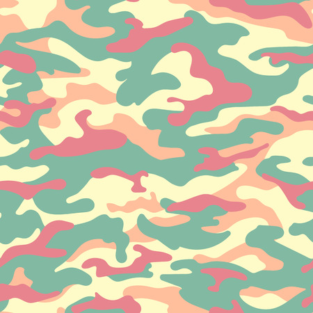 Camouflage seamless pattern in pastel colors. illustration Иллюстрация
