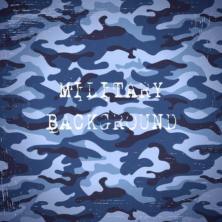 scuff: Military camouflage navy blue background. Vector illustration