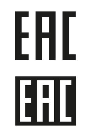 EAC ユーラシア適合マーク。包装記号です。ベクトル  イラスト・ベクター素材