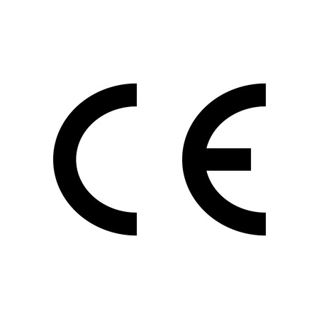 CE European Conformity marking Packaging symbol. Vector