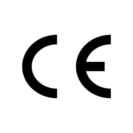 CE European Conformity marking Packaging symbol. Vector