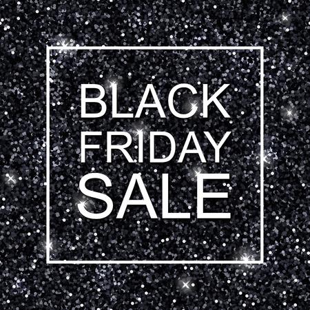 shiny argent: Black friday sale background with black shiny glitter.