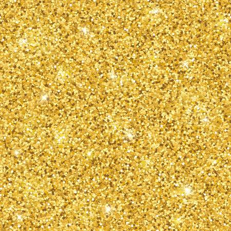 Gold glitter seamless pattern. Shiny sparkles. Vector