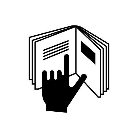 symbole de l'emballage des instructions Lire. Vector icône sur fond blanc Vecteurs