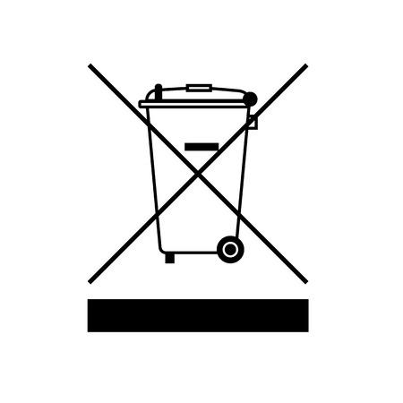 WEEE-Richtlinie Symbol. Entsorgung von Elektro- und Elektronik-Altgeräte