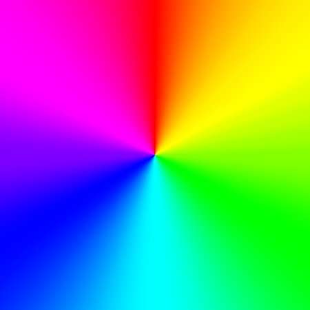 Multicolor rainbow background, conical gradient. Vector Illustration