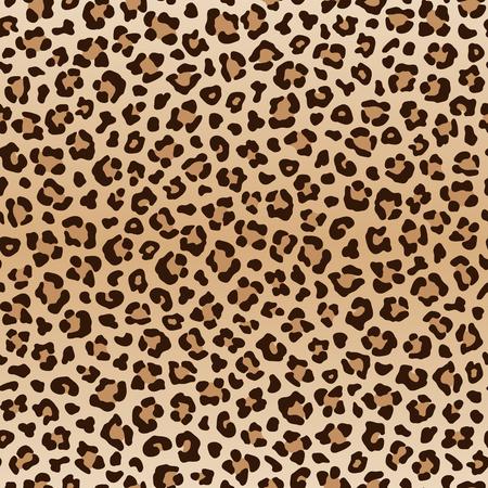 Seamless animal patrón de leopardo, vector